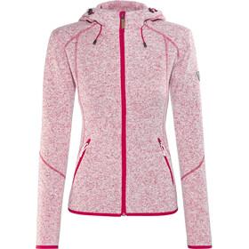High Colorado Rax Stretchfleece Hoodie Damen pink melange